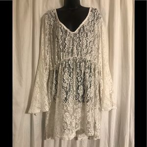 TORRID LACE BELL SLEEVES COVERUP DRESS